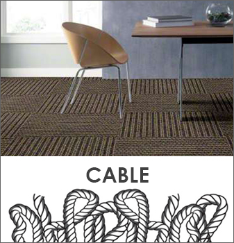 Cable - This carpet style is thick, long, and twisty.