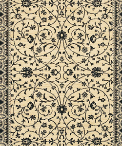 Karastan - Sierra Mar Ivory / Black